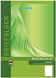 Stylex 40017 Briefblok DIN A4, 50 vel, blanco