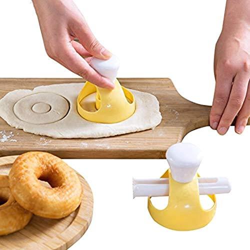 Lekind Rosquillas Molde del Fabricante de buñuelo con Clip DIY hornada de la Galleta Herramientas de la Torta de Pan de panadería Postres Molde del Cortador del Marco