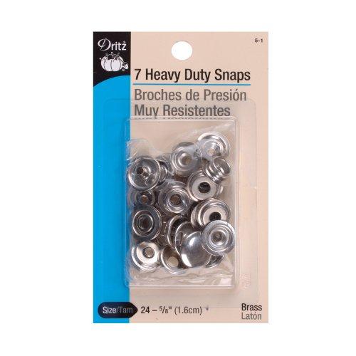 Dritz Nickel Heavy Duty Snaps 5/8in