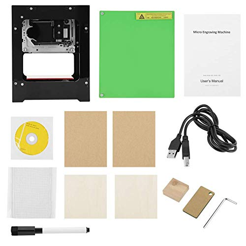 BXU-BG Engraving Machine, 1500mW Multi-language Bitmap Carving Engraver Printer 550 * 550 Pixel USB Bluetooth Engraving Machine for Can Cardboard Hard Wood Bamboo Leather