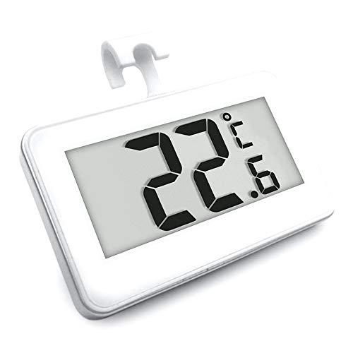 Apofly Termómetro Nevera Frigorífico Termómetro Digital Impermeable Sin Hilos del Congelador De Refrigerador De Temperatura De -20 a 60 Grados Grande del LCD Display