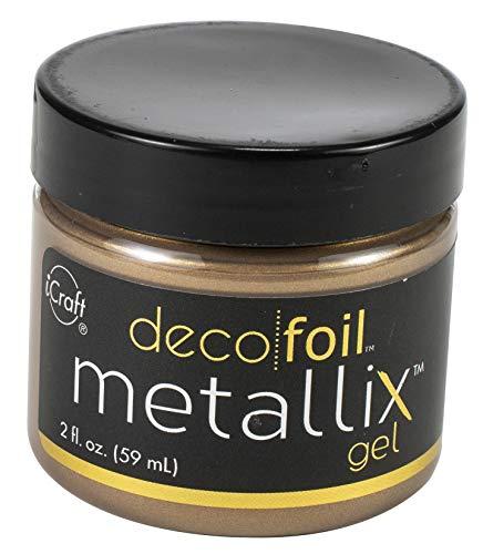 iCraft Deco Foil Metallix Gel, 2 Fl. Ounces, Aged Copper