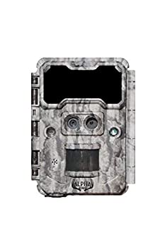 Alpha Cam No Glow Dual Lens Hunting Trail Camera 30MP 1080p 30fps IP67 Waterproof Scouting Cam with Ultra Fast Trigger Speed and Recovery Rate 2.4  Color Viewscreen 48 940nm IR LEDs