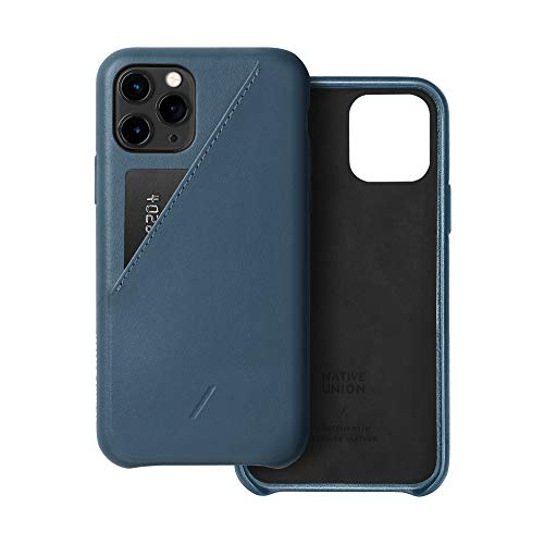 Native Union Funda con Tarjetero Clic para iPhone 11 Pro - Funda de Cuero con Tarjetero – Compatible con iPhone 11 Pro (Indigo)