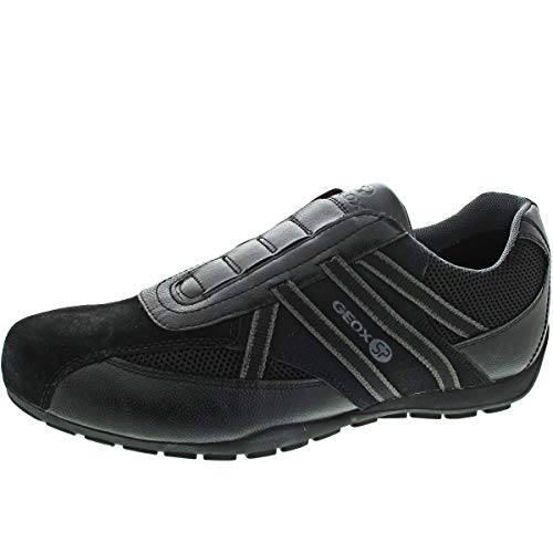 Geox Herren Ravex 4 Sneaker Turnschuh, Black (U923fc0bc14c9999), 45 EU