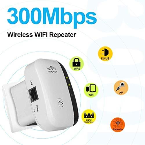 Ashopfun Repetidor WiFi, Extensor de Red WiFi 300Mbps Extensor WiFi | Fácil instalación, diseño de Enchufe de Pared