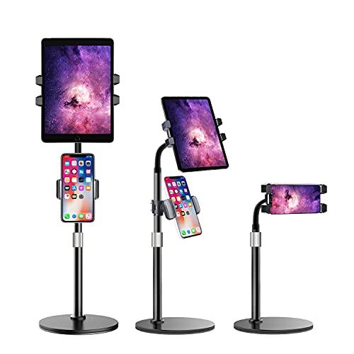 Luxtude Soporte Tablet,Multiángulo Altura Ajustable Soporte Tablet,Base Estable Soporte para Tablet & Soporte Movil para iPad, iPad Mini Air Pro, iPhone y Tablets de 4.7-12.9 Pulgadas
