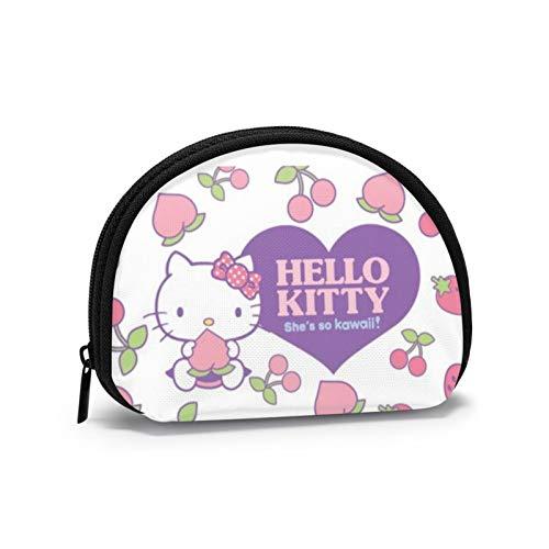 Hallo Kitty Peach Strawberry Coin Geldbörse zum Speichern von Kopfhörern Lippenstift Shell Nettes Aussehen