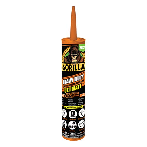 Gorilla 8008002 Ultimate Construction Adhesive, 1-Pack, White