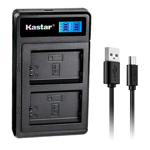 Kastar NP-FW50 LTD2 USB Battery Charger Replacement for Sony SLT-A35, SLT-A37, SLT-A55, Cyber-Shot DSC-RX10, Cyber-Shot DSC-RX10 II, Cyber-Shot DSC-RX10M2, Cyber-Shot DSC-RX10 III -  CH-LTD2-0B-FW50-J