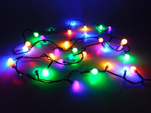 Guirnalda led con 35 luces de Navidad de color, de Christmas Concepts, con cable verde de 3m, para decoración de interiores y árbol de Navidad