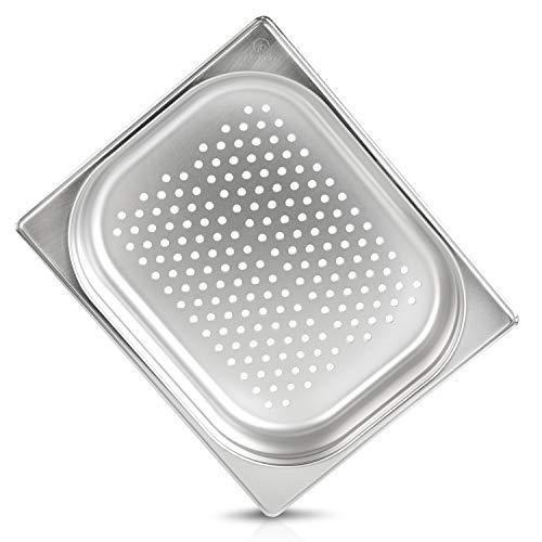 jokobela GN Behälter :: gelocht :: geeginet für Gaggenau/Miele/Siemens Dampfgarer (Edelstahl/Spülmaschinentauglich, Gastronorm 1/2, B 32,5 x T 26,5 x H 4,0)