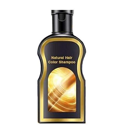 Natürliche Ingwer Haarfärbemitteln, natürlicher schwarzer Shampoo | dauerhafter Haarshampoo,Erfrischende Anti-Schuppen-Shampoo | hell buschiges Haar-Shampoo| hell schwarz 200ml (# 01 Haarfärbemittel)