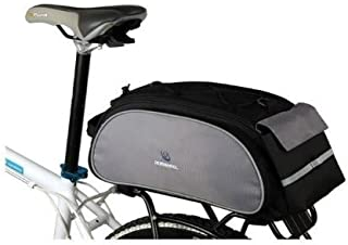 Roswheel Bike Rack Bag Seat Cargo Bag Rear Pack Trunk Pannier Handbag (Black)