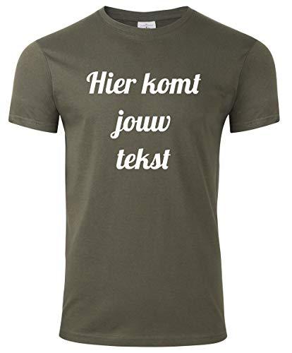 Heren t-shirt met eigen tekst, bedrukt met de Amazon tshirt designer. Mooie kwaliteit T-shirt met eigen tekst bedrukken. Al onze Tshirts zijn Ökotex-100 gecertificeerd