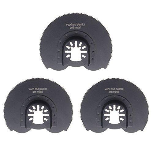 3 lame oscillanti per sega circolare HCS da 90 mm