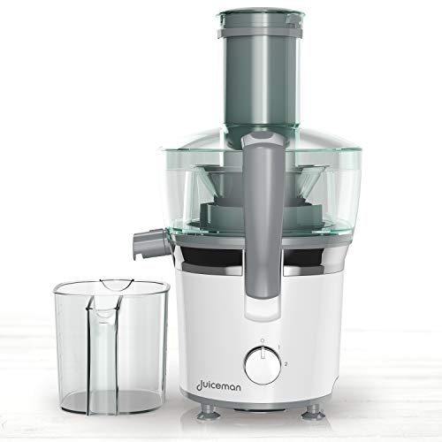 Black+Decker JM851 Extractor y Exprimidor de Jugos Juiceman, color Blan