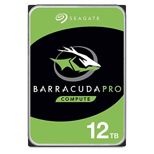 SeagateBarraCuda Pro, interne Festplatte 12 TB, 3.5 Zoll, 7200 u/min, 256 MB Cache, SATA 6 Gb/s, silber, FFP, Modellnr.: ST12000DMZ007