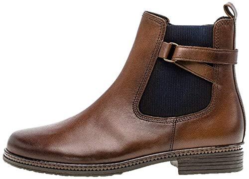 Gabor Damen Chelsea Boots 34.670, Frauen Stiefelette,Stiefel,Halbstiefel,Bootie,Schlupfstiefel,flach,Sattel (Eff)(Blue),38 EU / 5 UK