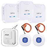 CallToU Caregiver Pager Wireless Call Button System Nurse Calling Alert for Elderly Senior Patient Personal Home 3 Receivers 2 Waterproof Buttons/Transmitters