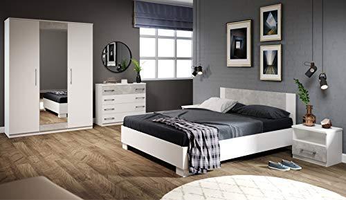 Imperial Avra 5 - Dormitorio con cama de 160 x 200 cm, color blanco