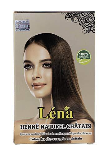 Henné châtain, coloration cheveux châtain, végétale, permanente, revitalisation, brillance, soins cheveux, couvrant les cheveux blancs et 100% naturel - 100 g