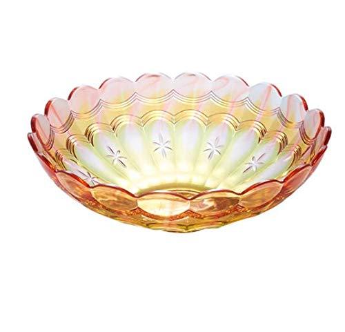 GGPJ fruitschaal voor snoepgoed en snacks, creatieve transparante imitatie glas kristal fruitschaal