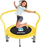 Arkmiido Mini Trampoline for Kids adults with Handle and protective cover,Foldable exercise fitness trampoline 36'' Inch for Indoor Outdoor, Bouncer with Foldable Rebounder