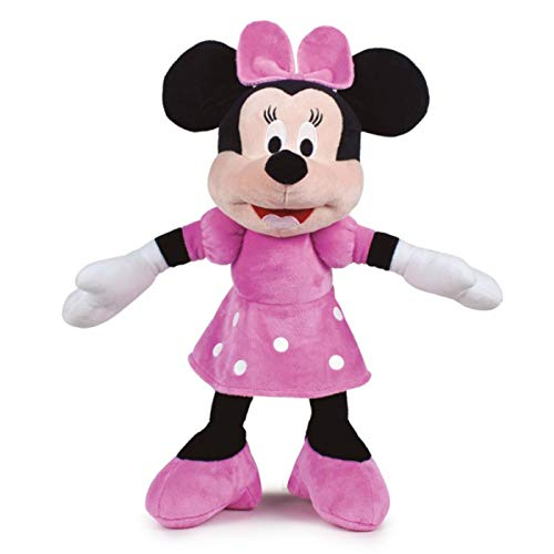 Play by Play Peluche Minnie Mouse Supersoft Peluche Minnie 42cm / 54cm con Orejas, Peluche Niña, Color Rosa Disney Junior