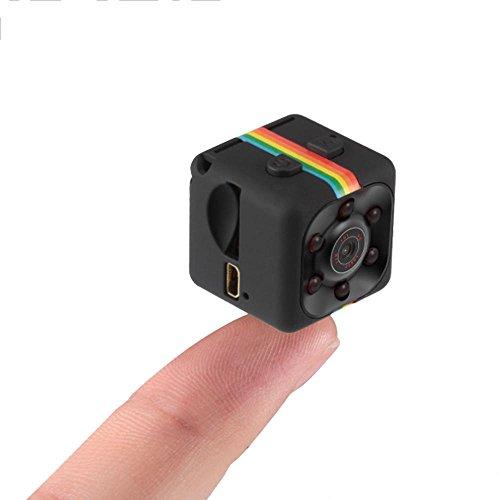 Pawaca Mini Cámara Web CAM SQ11 HD 1080P DV Cámara con Visión Nocturna, Cámara Deportiva grabadora de vídeo por Infrarrojos, cámara de Coche DVR, detección de Movimiento