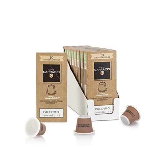 Caffè Carracci, Capsule Compostabili Compatibili Nespresso, Palermo - 100 Unità