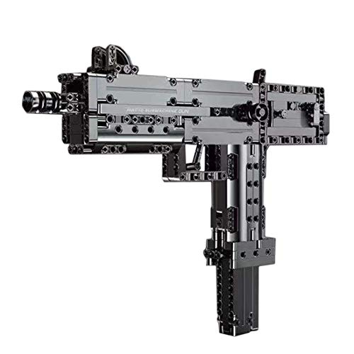 Ditzz Technic Gun Building Blocks, Pistol with Shooting Function, 478+Pcs Mechanical Weapon Building Kit Compatible with Lego Bricks