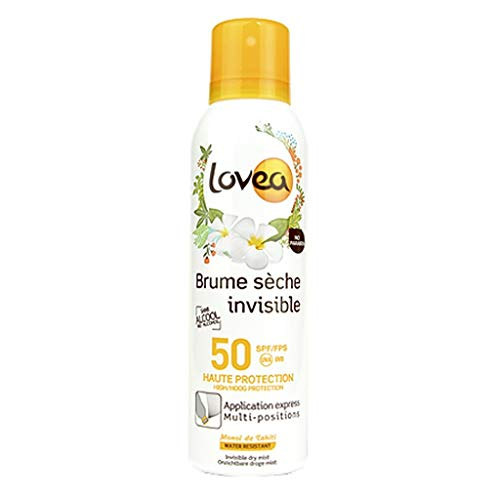 Lovea Brume Sèche Invisible Protection SPF 50 Monoï de Tahiti Water Resistant 200ml (lot de 2)