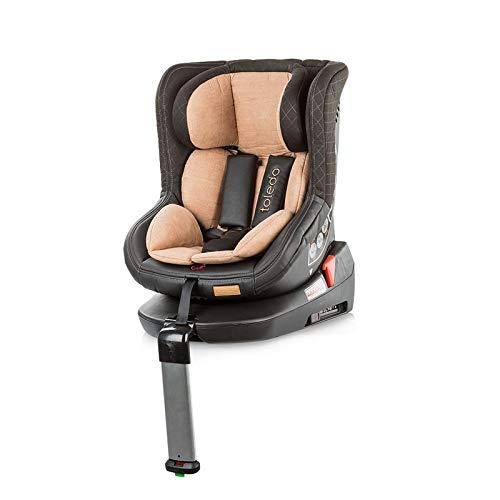 Chipolino Kindersitz Toledo Gruppe 0+/1 (0-18 kg) mit Isofix, Sitz drehbar, Farbe:beige