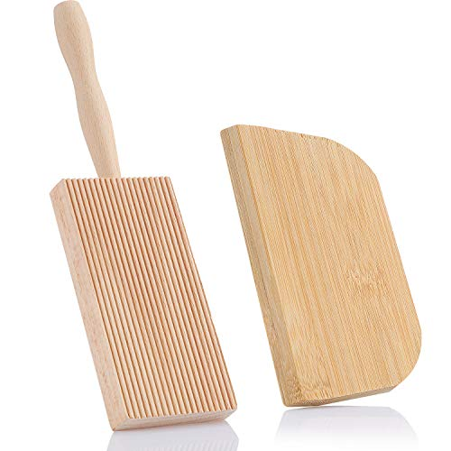 Pala de madera de haya, 8 pulgadas, con raspador de masa, para cocina, uso doméstico