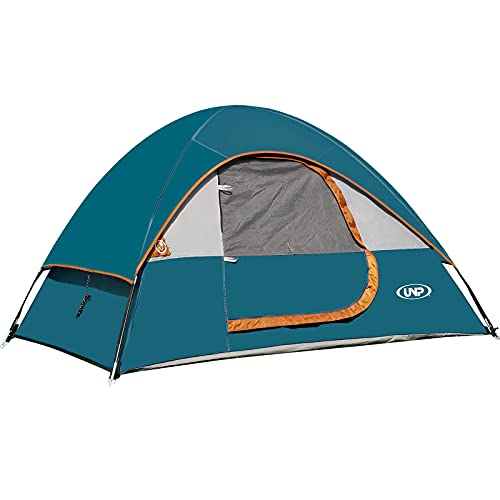 unp Camping Tent 2 Person-Ocean Blue- Lightweight with Rainfly Easy Set-up Portable-Dome-Waterproof-Ideal for Outdoor Activities, Beach, Backyard Tent