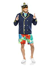 Size: Small/Med Includes: Jacket, Scarf, Shorts, Hat, Glasses Polyester