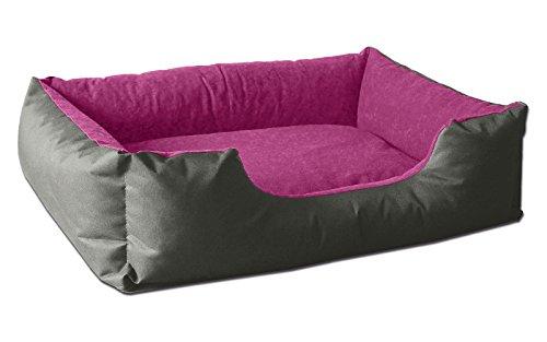 BedDog® lit pour Chien LUPI, Gris/Rose, L env. 80x65 cm,Panier Corbeille, Coussin de Chien