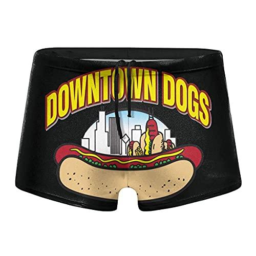 XCNGG Hot Dog Logo Calzoncillos Tipo bóxer de Secado rápido para Hombre Bañadores Shorts Trunks Traje de baño-XL
