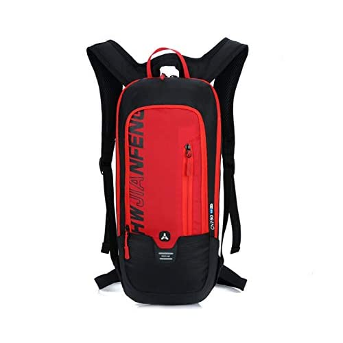 BLF Zaino per ciclismo, in tessuto traspirante e impermeabile, capacità 10litri, formato mini, leggerissimo, adatto a qualsiasi sport e attività come corsa, escursionismo, arrampicata, campeggio e sci, BLF-QX-025, Red, 46 * 22 * 7 cm (Height * Width *