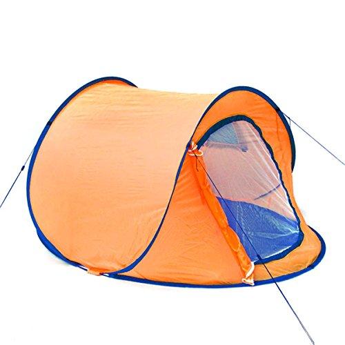 GOODS+GADGETS Pop-Up Wurfzelt Automatik-Zelt Quick-Tent Sekundenzelt zum Werfen - Orange