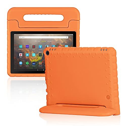 Foluu - Custodia per tablet Kindle Fire HD 10 e 10 Plus (11a generazione, 2021), antiurto, con supporto per tablet Amazon Fire HD 10 11a generazione (arancione)