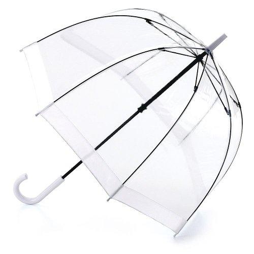 Fulton Birdcage-1 clara paraguas cúpula borde blanca