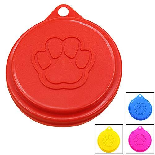 Coperchio Del Barattolo Di Cibo Può Animale Domestico Copertura Per Alimenti Per Cani e Gatti Il Cibo Per Cani Può Coprire Per Trattamento Di Sigillatura Secondaria Di Lattine Di Cibo 8 Pezzi