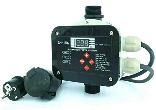 chm GmbH Digitale vollautomatische Pumpensteuerung CH20 2.2 mit Sensor Technologie ! Für Pumpen bis 2,2 kW. Master-Chip und Drucksensor steuern das EIN- und Ausschalten der Pumpe.