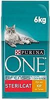 Purina ONE 12378886 Volwassen Kattenbrokken - (voor Gesteriliseerde & Gecastreerde Katten), Met Kip en Tarwe, 1 x 6kg