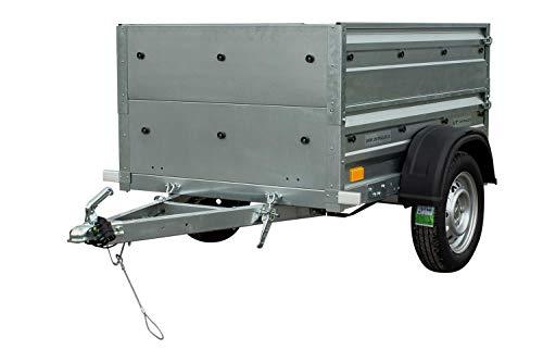 UNITRAILER PKW Anhänger Garden Trailer 150 mit zusätzlichen Bordwänden, Ladefläche 147,3 cm x 106,5 cm, 750 kg