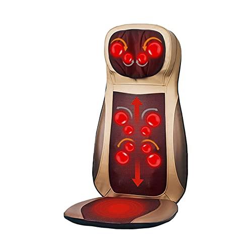 WGHBHD WGHH Almohadilla de Silla de Masaje eléctrico portátil con calefacción con Nodos de 6Rolling - Relájese, Alivio Dolor de Espalda y Dolor Muscular - hogar, Oficina, Uso de Autos
