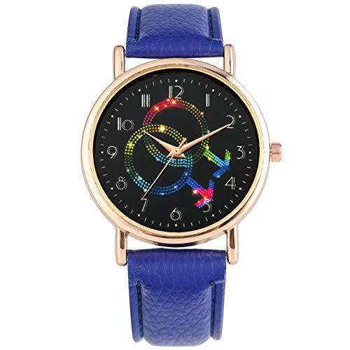 Moxuan Store Reloj analógico de Cuarzo para Mujer con diseño de símbolo de género y números arábigos, Reloj de Pulsera para niña