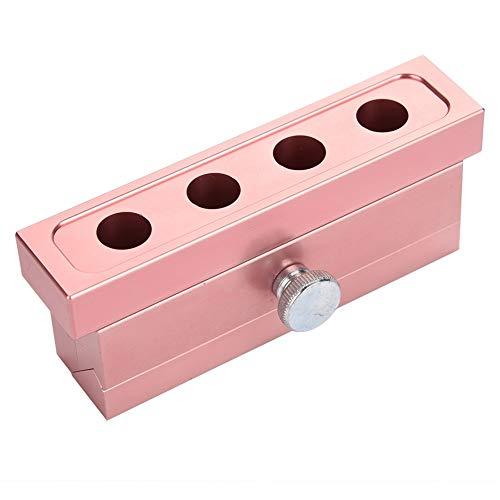 BLLBOO 12.1 DIY Lippenstift-Form-Aluminium-Legierung Rose Gold Doppel Verwendet Lippenbalsam-Hersteller-Werkzeug (4 Löcher)